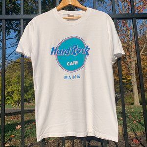 Vintage 90s Hard Rock Cafe Main White t shirt